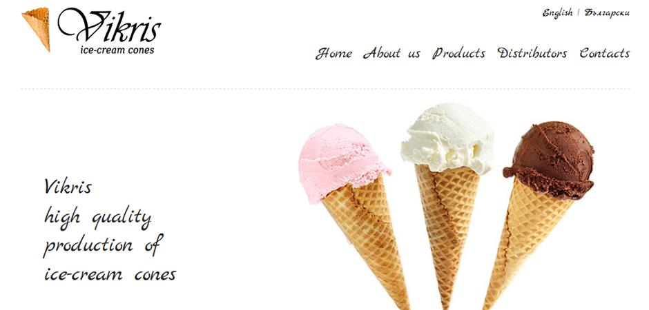 Изработка на сайт за Викрис - начало