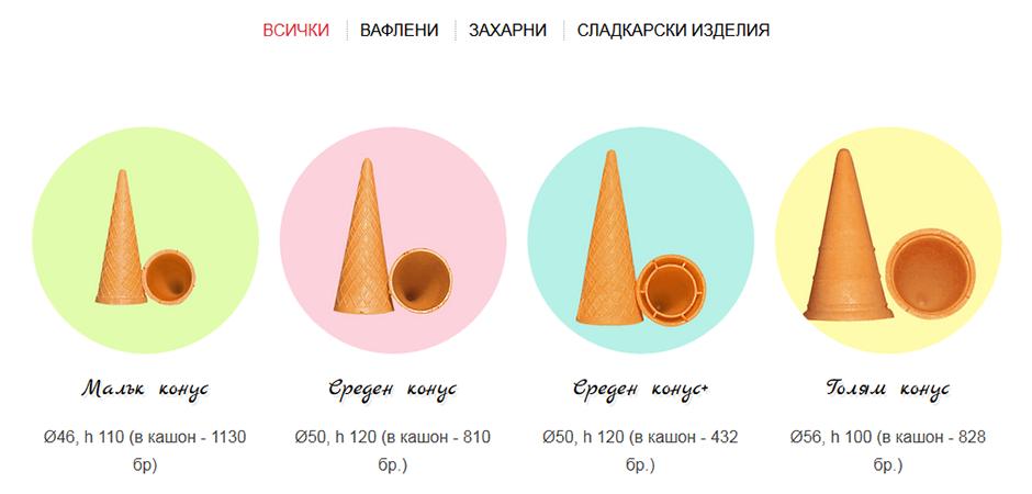 Изработка на сайт за Викрис - продукти